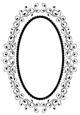 CTFD 3091 ~ OVAL ~ embossing folder by Crafts Too.