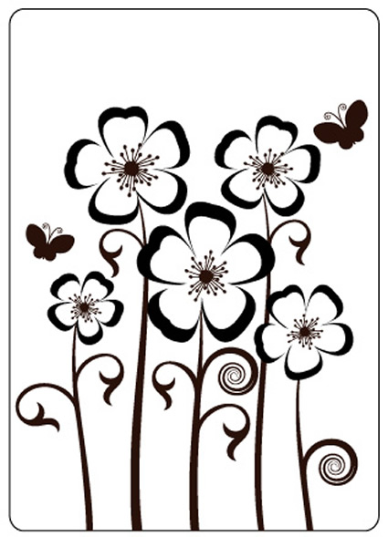CTFD 4019 ~ PANSIES ~ embossing folder by Crafts Too.