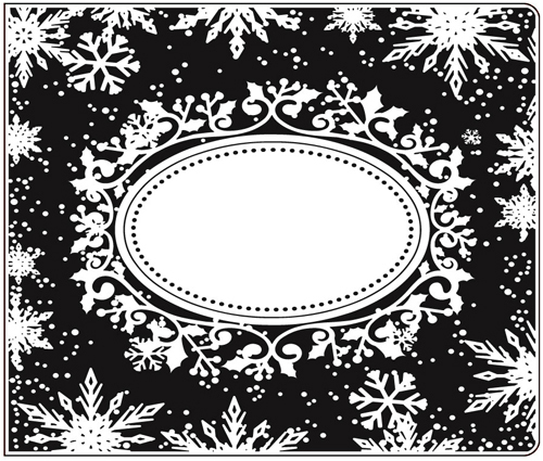 CTFD 4025 WINTER FRAME 6x5 embossing folder by Crafts Too.