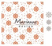 DF3440 ~ Snow and Ice Crystals ~ embossing folder extra ~ Marianne Creatables