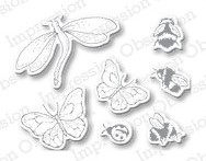 DIE139 M ~ INSECT SET ~ Impression Obsession dies