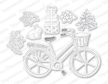 DIE145 L ~ BICYCLE SET ~ Impression Obsession dies