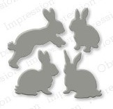 DIE168 S ~ RABBIT SET ~ Impression Obsession dies