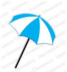 DIE181 M ~ BEACH UMBRELLA  ~ Impression Obsession dies