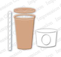 DIE196 M ~ TAKEOUT COFFEE CUP  ~ Impression Obsession dies