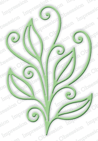 DIE251 L  ~ OPEN SCROLL LEAF DIE ~ Impression Obsession dies