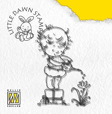 DL001 Litte Dawn - Watering - Nellie Snellen clear stamp