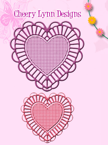DL128 S ~ TWO OF HEARTS ~ Cheery Lynn Doily dies