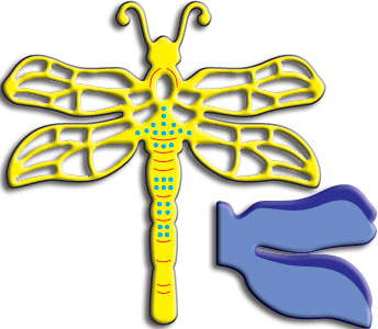 DL146 ~ Dragonfly (Large)  with Angel wing ~2 Cheery Lynn dies
