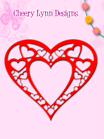 DL178 ~ HEART WITHIN MY HEART DOILY ~ Cheery Lynn Doily dies