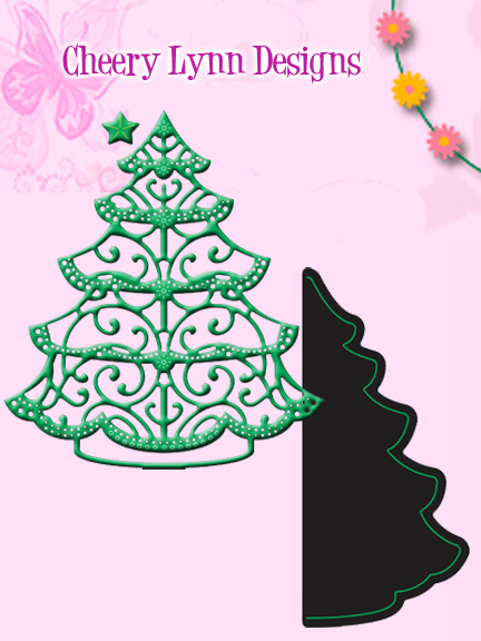 DL223 ~ LACE CHRISTMAS TREE ~ Cheery Lynn Doily die