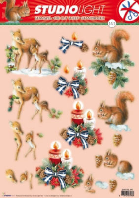 EasySL141 Studio Light Die cut CHRISTMAS decoupage DEER