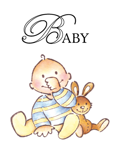 EC 0111 ~ BABY BOY ~ 2 stamps ~  Marianne Designs Clear stamp