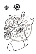 EC0137 ~ Christmas Stocking ~ ELINE'S CHRISTMAS ~ Marianne Designs Clear stamp