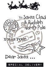 EC0142 ~ DEAR SANTA  ~  Marianne Designs Clear stamp