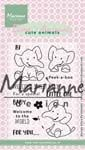 EC0168 ~ Eline's Elephant ~ Eline's Animals ~ Marianne Designs Clear stamp