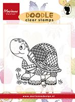 EWS2218 ~ DOODLE TURTLE ~  Marianne Designs Clear stamp