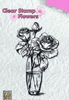 FLO013 ~ Roses ~ Flowers  Nellie Snellen Clear Stamps