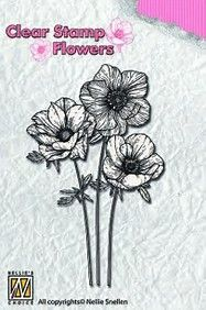 FLO015 ~ Anemones ~ Flowers  Nellie Snellen Clear Stamps