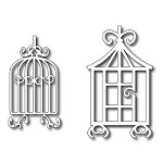 FRA-DIE-09074 ~ GILDED BIRD CAGE DUO ~ set 2 dies from FRANTIC STAMPER