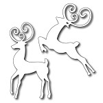 FRA-DIE-09083 ~ REINDEER DUO ~ set 2 dies from FRANTIC STAMPER