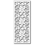 FRA-DIE-09098 ~ SNOWFLAKE HALF PANEL ~  die from FRANTIC STAMPER
