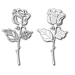 FRA-DIE-09113 ~ LONG STEMMED ROSE ~ set 2 dies from FRANTIC STAMPER