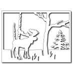 FRA-DIE-09161 ~ MOOSE IN THE FOREST ~ die from FRANTIC STAMPER