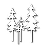 FRA-DIE-09177 ~ TALL PINE TREES  ~ set of 2 dies from FRANTIC STAMPER