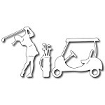 FRA-DIE-09203 ~ GOLF COMPANION ~ 3 die set from FRANTIC STAMPER