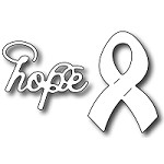 FRA-DIE-09216 ~ SMALL HOPE & RIBBON ~ set of 2 dies from FRANTIC STAMPER
