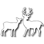 FRA-DIE-09227 S ~ DEER AND DOE ~ die from FRANTIC STAMPER