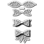 FRA-DIE-09243 ~ LARGE SWIRL BOW ~ set of 3 dies from FRANTIC STAMPER
