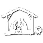 FRA-DIE-09245 ~ NATIVITY CRECHE AND SHEEP ~ Set of 2 dies from FRANTIC STAMPER