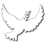 FRA-DIE-09252 ~ LARGE PEACE DOVE ~ die from FRANTIC STAMPER