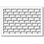 FRA-DIE-09270 ~ BRICK WALL CARD PANEL ~ die from FRANTIC STAMPER