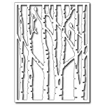 FRA-DIE-09274 ~ VERTICAL BEECH TREES CARD PANEL ~ die from Frantic Stamper