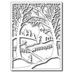 FRA-DIE-09285 ~ WINTER CHURCH IN THE WILDWOOD ~ die from FRANTIC STAMPER