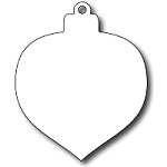 FRA-DIE-09294 S ~ TEARDROP CHRISTMAS BAUBLE ~ die from FRANTIC STAMPER