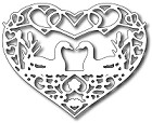 FRA-DIE-09319 ~ SWANS IN LOVE HEART ~ die from FRANTIC STAMPER