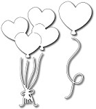 FRA-DIE-09322 ~ HEART BALLOONS ~ set of four dies from FRANTIC STAMPER