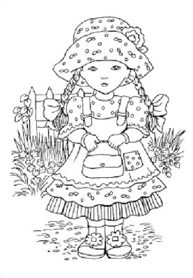 FTM04 ~ SARAH w.pigtails ~ STUDIO LIGHT clear self cling stamp