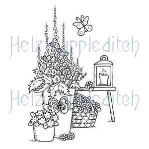 HC3227 ~ FLOWER PLANTERS ~ Helz Cuppleditch Clear Stamp