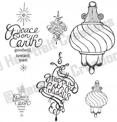 HCPC 3337 FANCY ORNAMENT ~ DISCONTINUED ~ stamps HEARTFELT CREATIONS