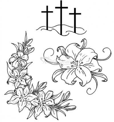 Hcpc 3370 Easter Lilies Discontinued Precut Stamps