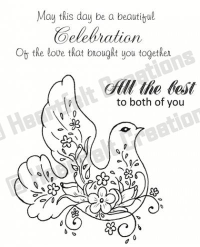 HCPC 3399 WEDDING DOVE PreCut set HEARTFELT CREATIONS