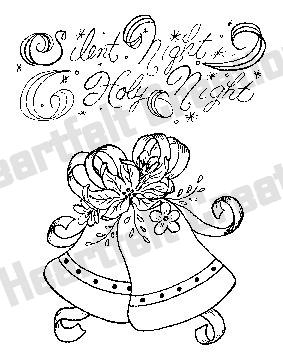 HCPC 3424 ~ Poinsettia Bells & Bows ~ DISCONTINUED ~ stamps Heartfelt Creations