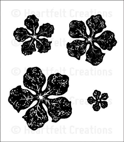 HCPC 3501 ~ BOLD VINTAGE FLORET ~ Heartfelt Creations pre cut stamp set