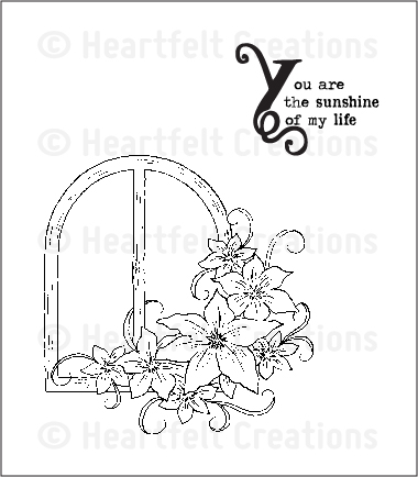 HCPC 3521 ~ BOTANICAL WINDOW ~ Heartfelt Creations pre cut stamps