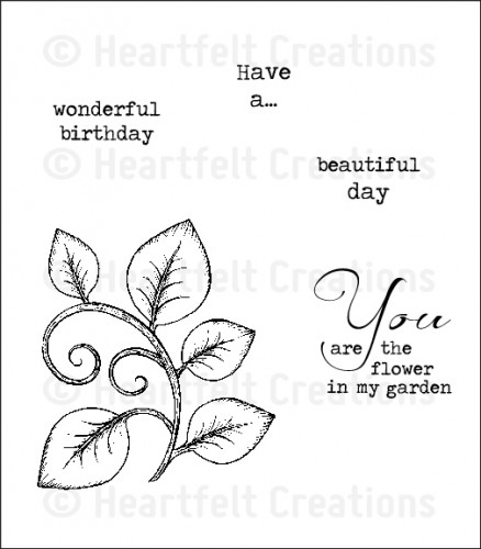 HCPC 3532 ~ BEAUTIFUL YOU ~ Heartfelt Creations pre cut stamps